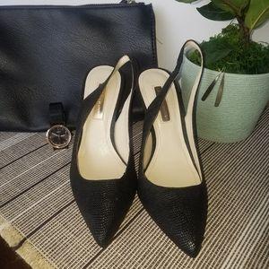 NWOT- BCBGeneration Black Slingback Heels